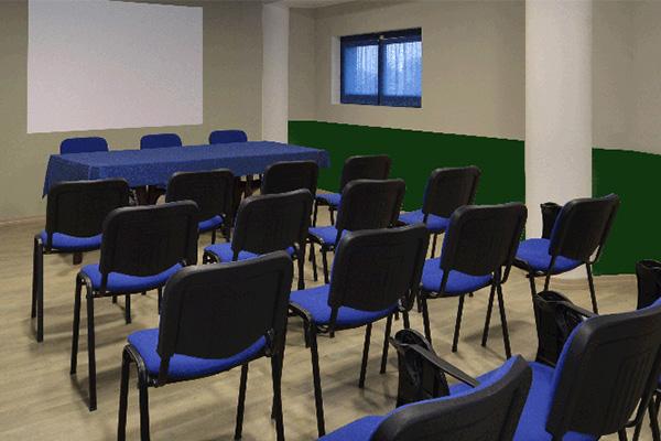 Der grüne Konferenzsaal